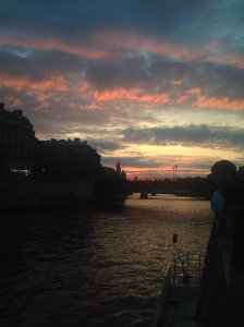 Sunset river cruise on the Seine
